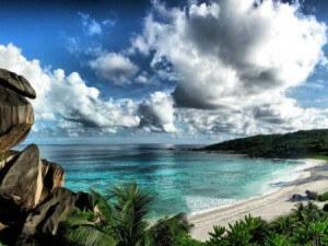 Seychelles plage sable blanc
